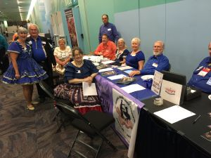 Working the Registration Table at the Cincinnati Convention in 2017 After Winning the Bid